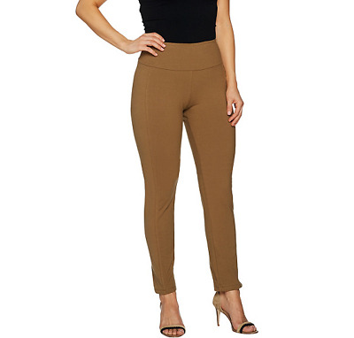 Women with Control Slim Leg Ankle Pants Front Fitted Seam Black S NEW A294158