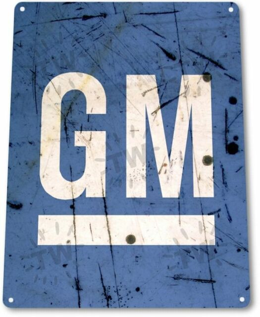 GM General Motors GMC Chevy Dealer Service Parts Retro Wall Decor Metal Tin Sign