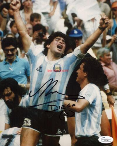 DIEGO MARADONA SIGNED ARGENTINA NATIONAL TEAM Autographed 8x10 Photo Reprint
