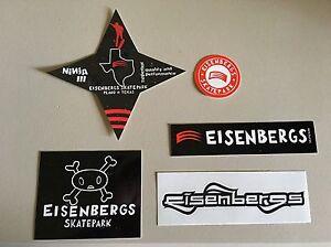 Eisenbergs-Skatepark-Skateboard-5-Sticker-Pack-including-Ninja-III