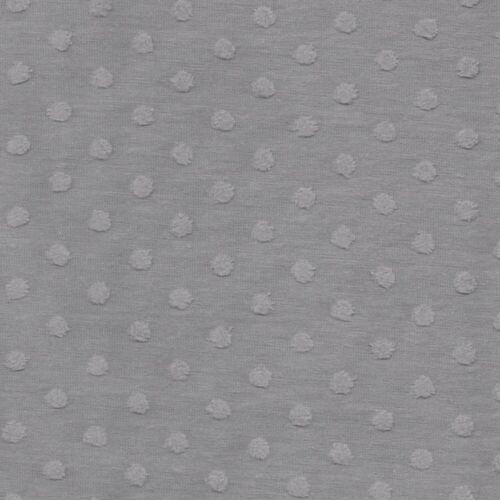 Pinto hoyuelo Jersey De Algodón Suave-Rosa Gris-Confección Tejido de punto enfermera