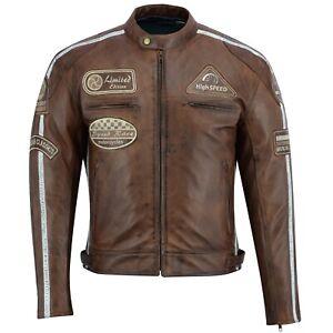 Uomo-Giacca-moto-Classic-Moto-Giacca-di-Pelle-Biker-Retro-Giacca-Taglia-m-5xl