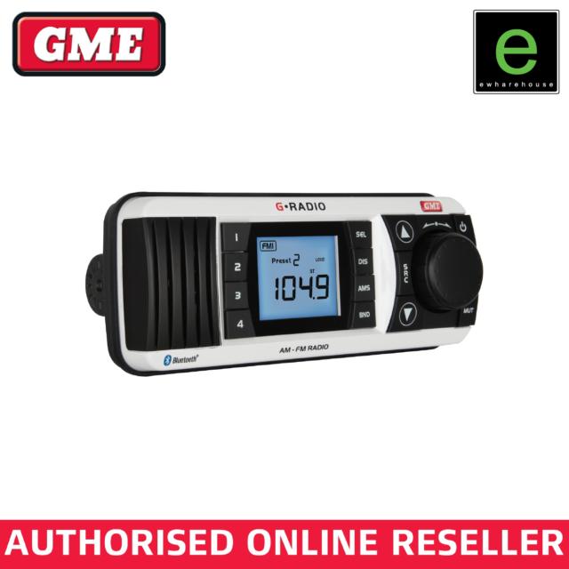 GME GR300BTW AM/FM Marine Radio with Bluetooth - White