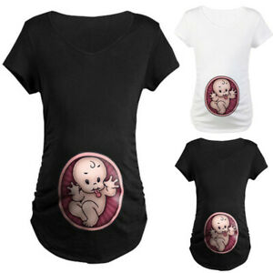 Women-Maternity-Cute-Baby-Print-O-Neck-Short-Sleeve-T-Shirt-Pregnant-Tops-Blouse