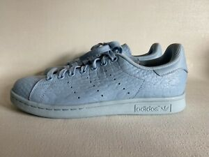 Detalles acerca de Adidas Originals Stan Smith Mujer Zapatillas De Cuero  cielo claro (BB3713)- mostrar título original