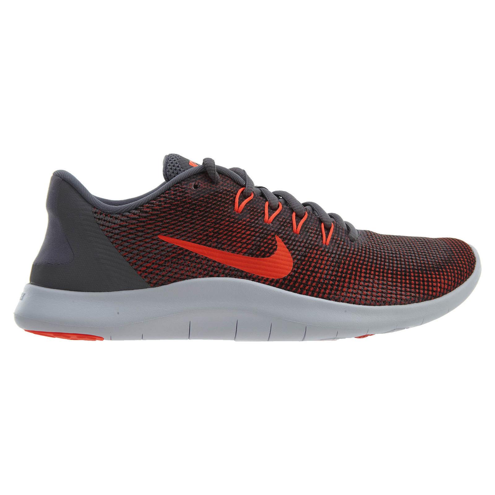 832b41c458628 Nike Flex 2018 RN Mens AA7397-006 Gunsmoke Grey Crimson Running Running  Running shoes Size