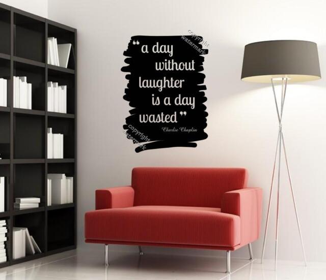 ' un día sin Laughter es día perdido' Charlie Chaplin frase Adhesivo de pared GB