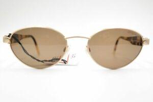 Otto-Kern-Mod-9639-126-54-18-Matte-Gold-Havana-Oval-Sunglasses-Neu