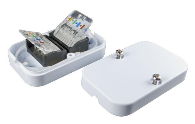 Cat5e / Cat6 Gigabit Ethernet In-Line Coupler -Tool-less Pushdown IDC Terminals