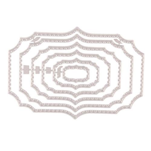 Quadratischer Rahmen Metal Cut stirbt Schablone Einklebebuch Album Papier · DE