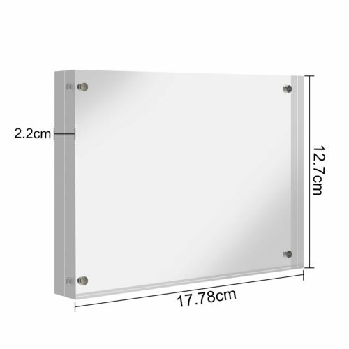 Lightweight Acrylic Crystal Photo Frame Trumpet Clear Desk Picture Frame Holder