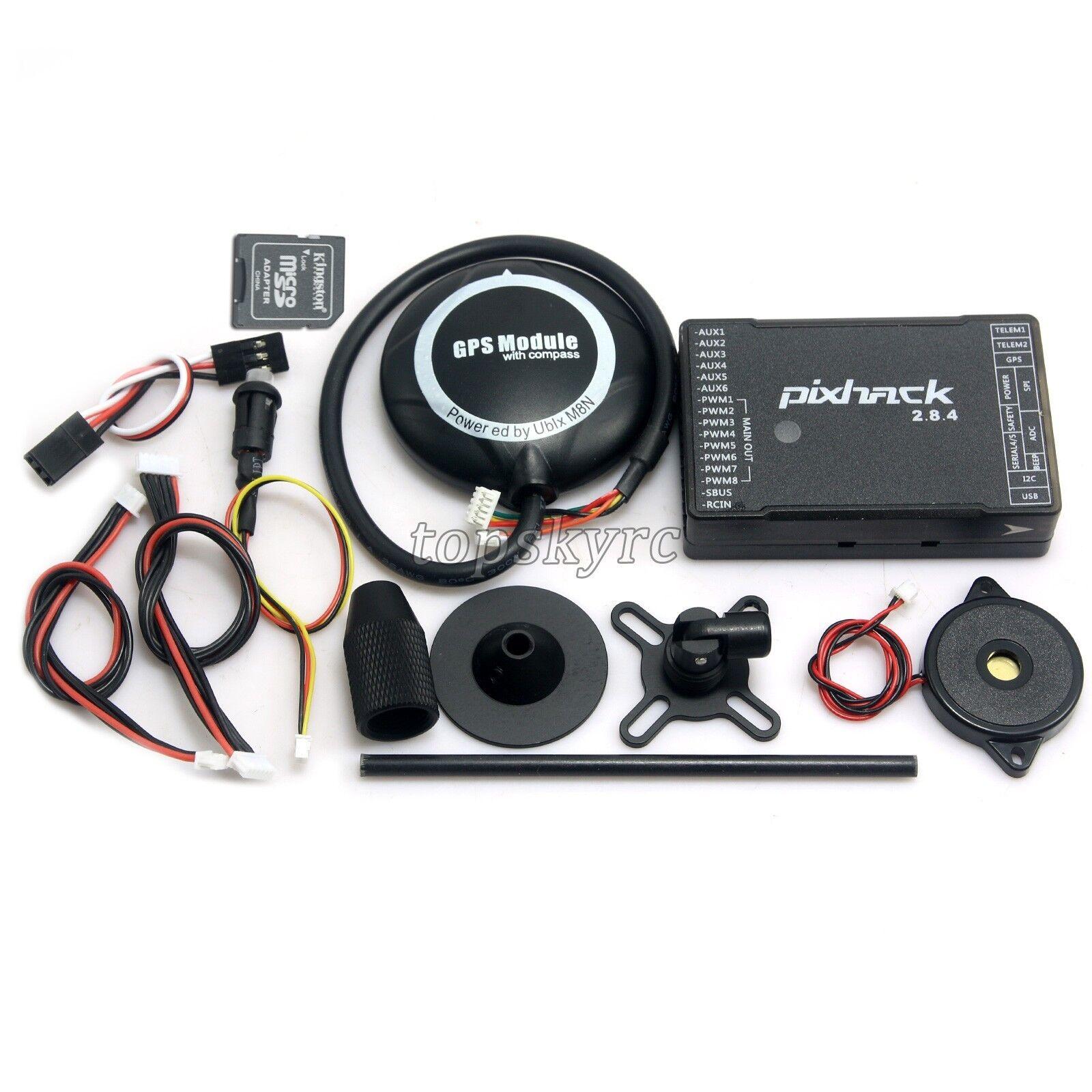 Pixhack 2.8.4 32bits Fljus Control VS Pixhawk & M8N GPS för FPV Drone Quadcopter