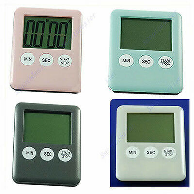 NEW Mini Digital Kitchen Cooking Alarm Count Down Up Timer Large LCD Display