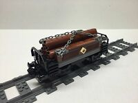 Lego Custom Logging Car For 10194 Emerald Night. Very Nice All Parts