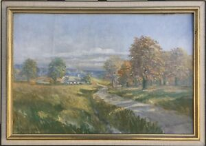 Impressionist-Erik-Jean-1894-1970-sunny-day-at-the-Seaside-41-x-58-cm