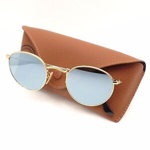 52375aef10 Ray Ban 3447 N 001 30 Shiny Gold Flat Mirror New Sunglasses ...