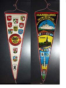 Amburgo-Hamburg-Gagliardetto-Pennant-Gallardete-Gagliardetto-ricordo-della