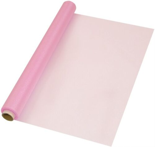 Baby Pink Organza fabric for party and wedding decorations 10m x 70cm