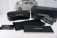 001 New Authentic CHANEL EYEGLASSES Sunglasses Case Quilted black