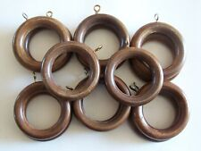 Wooden Curtain Rings Wood 2 Sizes Bulk Order Multi-Buy Discount 5 Colours