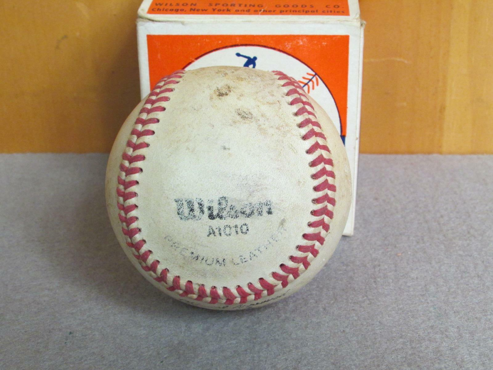 Vintage Wilson Offizielle Major Original League Leder Baseball A1010 mit Original Major 3b95ae