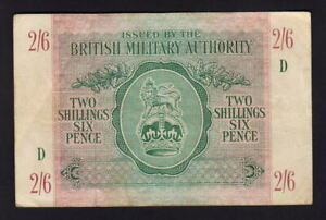 Great-Britain-Military-Authority-P-M3-1943-2-Shillings-6-Pence-gVF