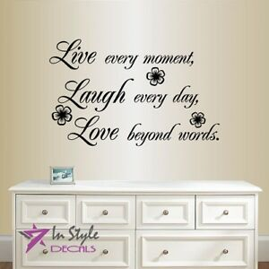 Details about Vinyl Decal Live Laugh Love Quote Phrase Bedroom Living Room  Wall Sticker 2311