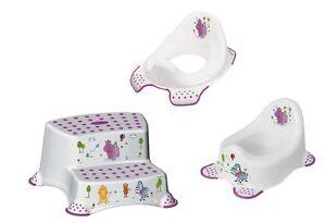 Set di 3 da hippo bianco supporto per wc vasino sgabello a due