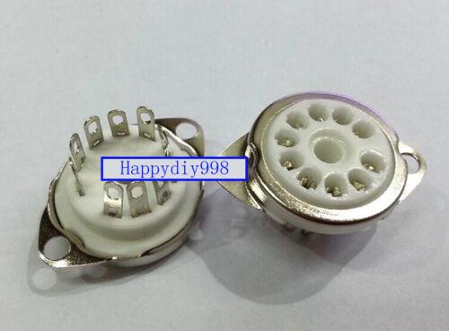 10PCs 10-pin Vacuum Tube silver plated ceramics Sockets for 6X9 6U9 6AF9 6AB9