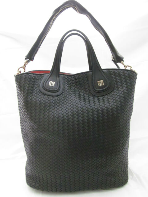 434683dd29 NWT GIVENCHY Woven Nightingale Shopper Tote Shoulder Bag  2670 Black