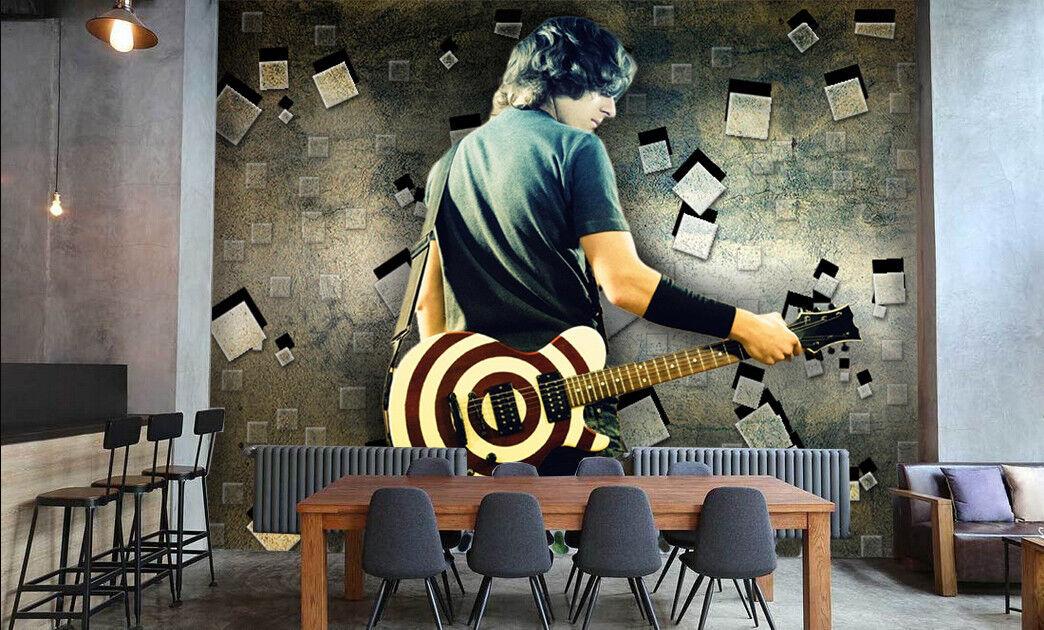 3D Handsome Guitar Boy 7 Wall Paper Murals Wall Print Wall Wallpaper Mural AU