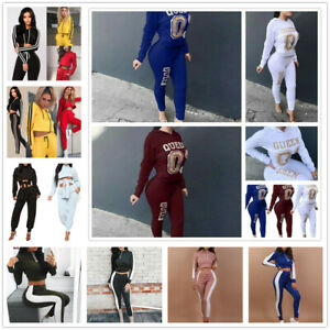 2Pcs-Women-Letter-Printing-Hoodie-Tracksuit-Set-Casual-Sport-Sweat-Suits-Set-New