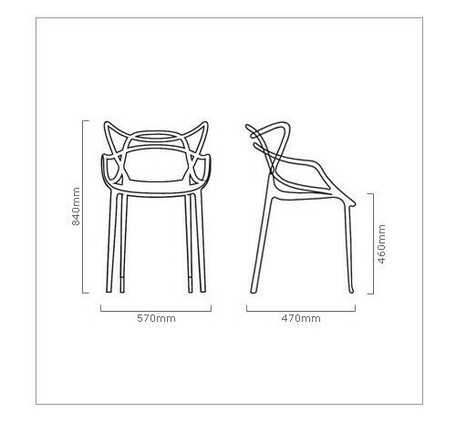 Set of 6 Masters Style Lounge Dining Restaurant Bar Chair Retro - White