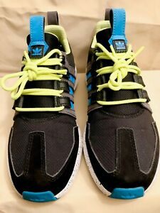 Adidas-SL-Loop-Runner-TR-039-Black-Sol-Blue-Lime-039-Size-7-Youth-Men-2016
