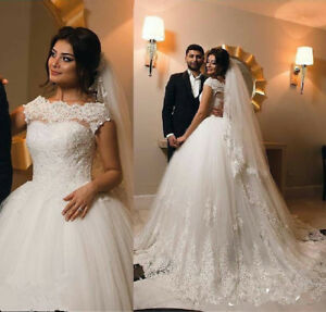 Modest Arabic Country Vintage Wedding Dress Princess Ball Gown ...