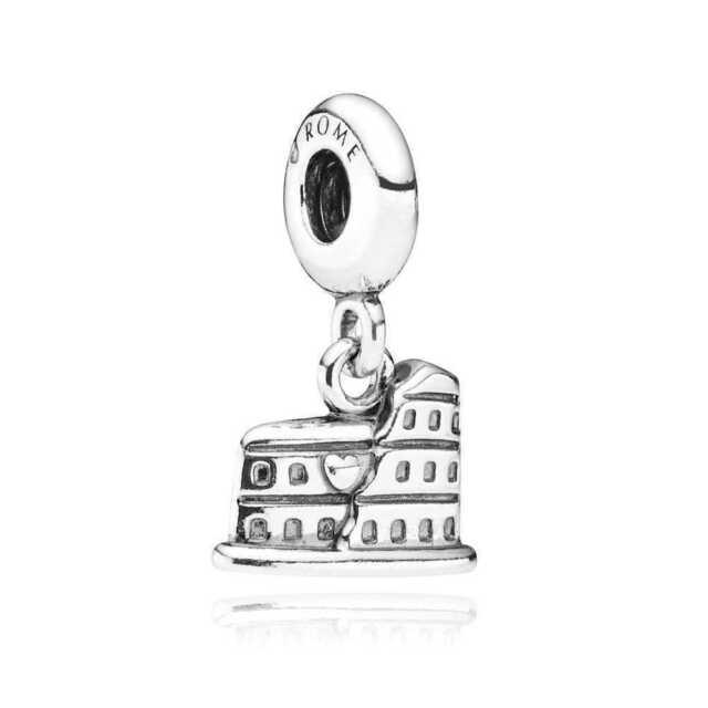 PANDORA Charm Sterling Silver ALE S925 COLOSSEUM ROME DANGLE  791079