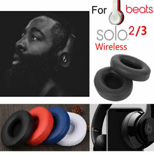 2x-Earpad-Ear-Pads-Cushion-For-Beats-by-Dr-Dre-Solo-2-3-Wireless-Headphone