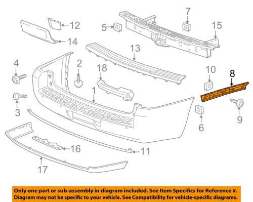 GM OEM Rear Bumper-Side Bracket Right 22806432