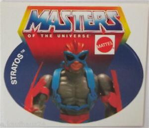 Sammler-Aufkleber Mattel Stratos Motu Masters of the Universe 80er