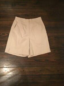 Lizgolf VGUC Khaki Women's Golf Bermuda Shorts Size 6