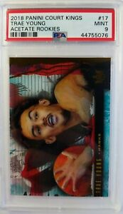 2018-19-Panini-Court-Kings-Trae-Young-Rookie-RC-17-Acetate-Graded-PSA-9