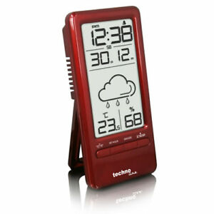 wecker thermometer wetterstation technoline ws 6715 rot. Black Bedroom Furniture Sets. Home Design Ideas