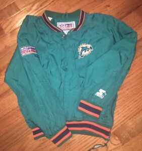 VINTAGE-STARTER-NFL-Pro-Line-Kids-MIAMI-DOLPHINS-JACKET-Youth-Size-Small