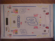 """2001 DALE EARNHARDT #3 GOODWRENCH SERVICE PLUS """"OREO"""" 1/24-1/25 WATER SIDE DECAL"""