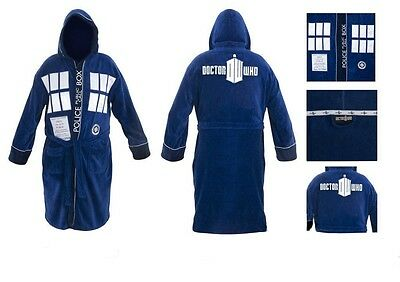 Doctor Who Tardis Costume Hooded Toweling Bath Robe Officially Licensed