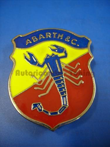Emblem Scudo Abarth Metall 49x40 Fiat 500 Auto oldtimer A065