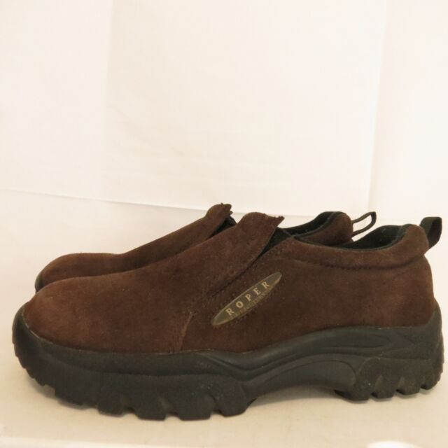 Roper Men's 7.5 EU 40.5 Loafers Brown Suede Mocs Sport Casual Shoes