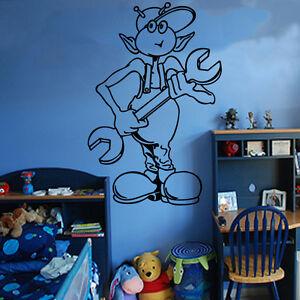 Belle Autocollant Mural Enfants Alien Art Chambre Enfants Garçons Filles Décoration Ki33-afficher Le Titre D'origine