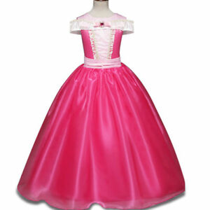 Girls-Kids-Sleeping-Beauty-Princess-Aurora-Party-Costume-Dress