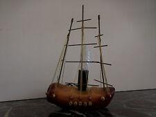 lampe bateau voilier bois laiton fait main CURIOSITY by PN